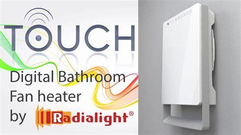bathroom heat ls no fan digital bathroom fan heater touch by ermete giudici s p
