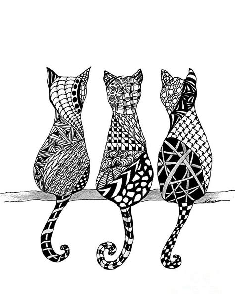 drawing doodle cat 1 1000 images about zen tangle on