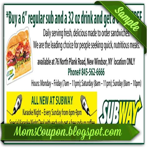 local grocery coupons printable 25 best ideas about printable subway coupons on pinterest