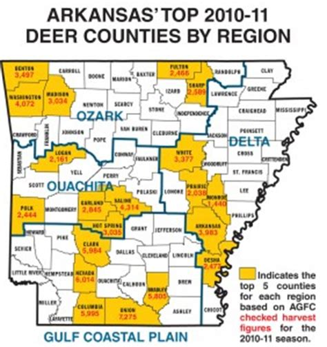 gf forecast our best places to hunt deer game fish 2011 arkansas deer forecast game fish