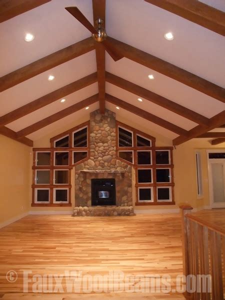 decke holzbalken great room designs beautiful interior spaces with faux wood