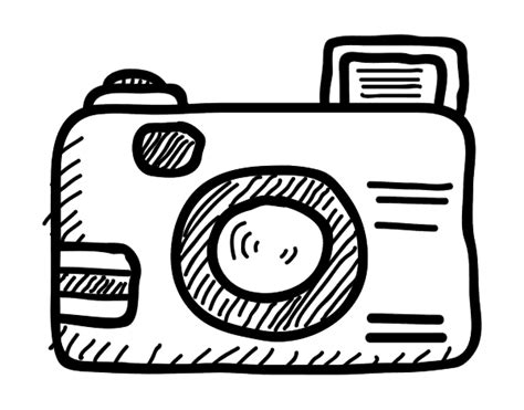 reflex camera coloring page coloringcrew com
