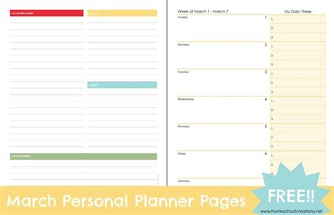 Free Printable Personal Planner Pages 2015 | free printable personal planner pages faithful provisions