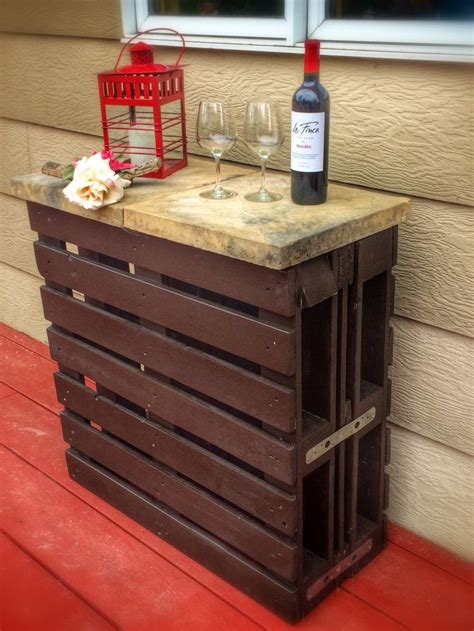 pin by mariam ovsepyan on pallet projects pinterest rustic outdoor wine bar from recycled wooden pallets