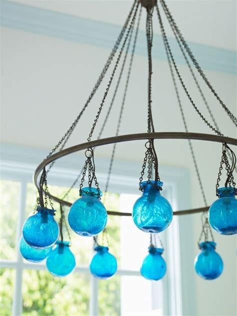 Chandelier Turquoise Turquoise Chandelier Bottles And Glass Pinterest