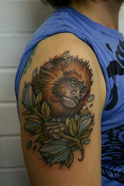 dock tattoo leeds monkey tattoo in branches on the arm sneaky mitch