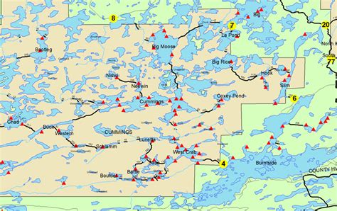 boundary waters map boundary waters trip reports bwca bwcaw quetico park