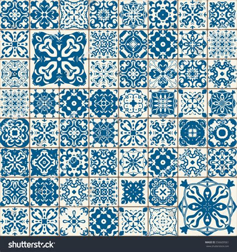 pattern and ornament in the art of india seamless tile pattern colorful lisbon mediterranean stock