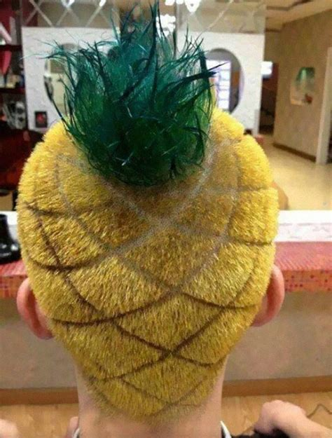 Pineapple Hairstyle | 15 of the craziest haircuts ever bored panda