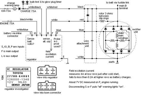 wiring diagram regulator alternator rectifier