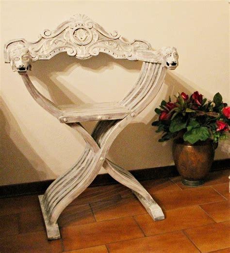 sedie savonarola antica sedia savonarola decorata shabby chic per la casa
