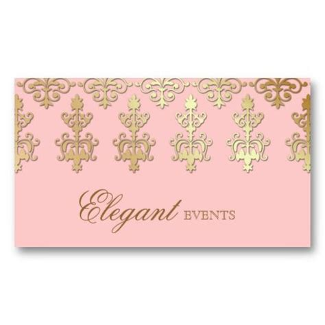Event Planner Business Card Templates Free by Wedding Event Planner Indian Damask Baby Pink