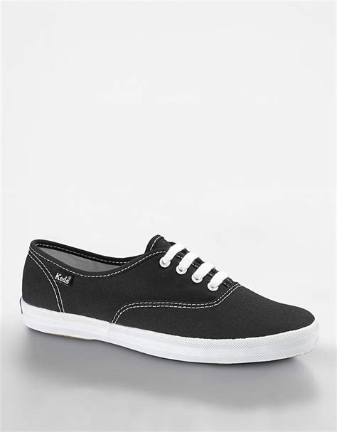 Keds Black White 1 keds chion cotton canvas sneaker in black black canvas