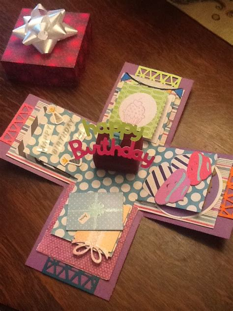 How To Make Explosion Box Handmade Birthday Card - 1000 ideas about explosion box on diy