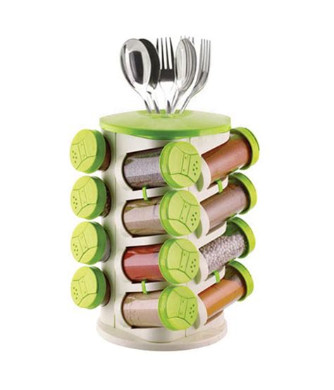 Trueware Spice Rack trueware green spice rack 16 jars buy at best price in india snapdeal