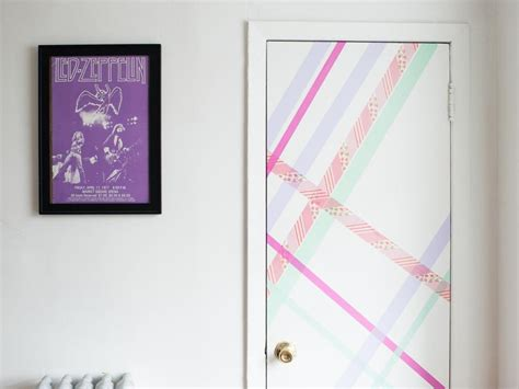 cute ways to decorate your bedroom door 10 ways to transform your space with washi tape hgtv