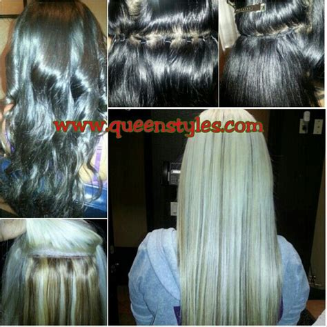 braidless sew ins in little rock arkansas braidless sew in micro bead method www queenstyles com