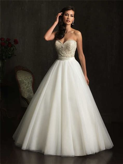 gown strapless sweetheart tulle embroidery beaded