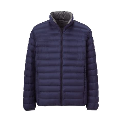 uniqlo premium ultra light jacket in blue for lyst