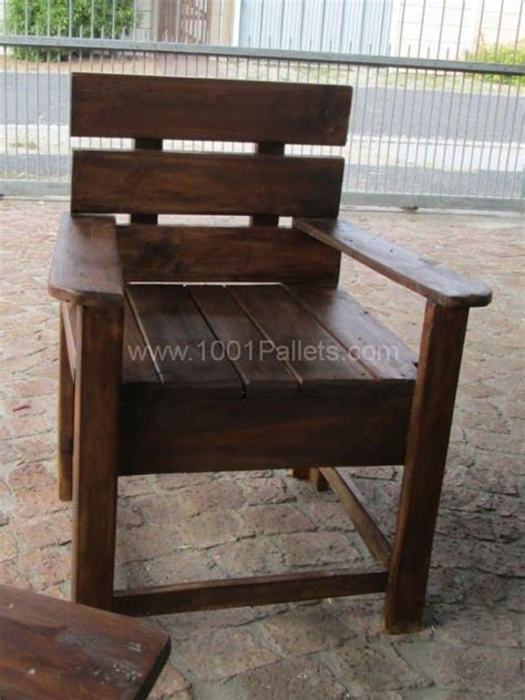 rustic benches from reclaimed pallets 1001 pallets garden table chairs benches from reclaimed pallet wood