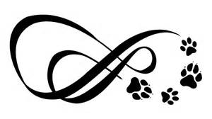 two infinity symbols with paw prints tattoo com