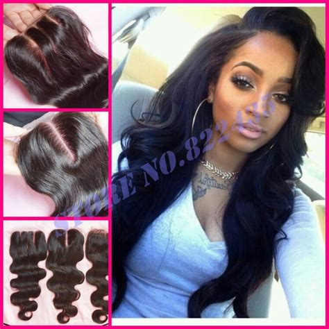 pictures of haistyles with 3 part silk closure malaysian natural wave hair
