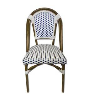 Navy Bistro Chairs White Navy Bistro Cafe Chair Tiab Inc