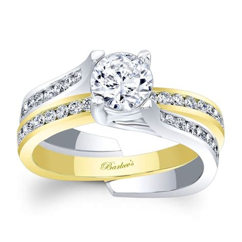Twotone Set by Two Tone Wedding Ring Sets Blomwedding