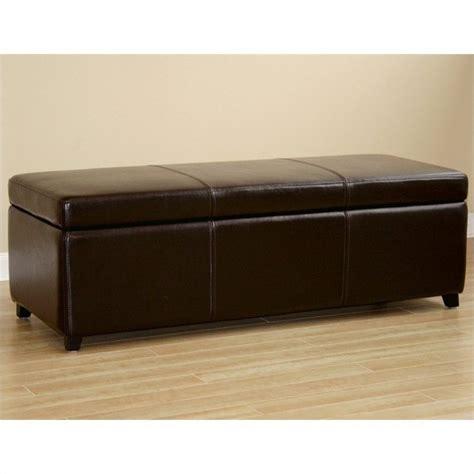 large brown ottoman large bench ottoman in dark brown y 161 001 dark brown