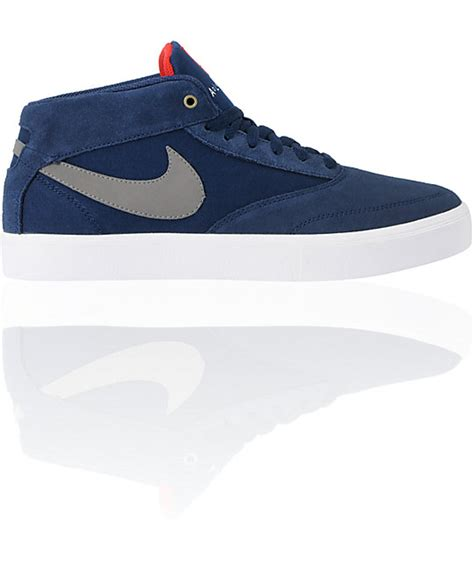 mid top skate shoes nike sb omar salazar lr navy pewter mid top skate shoes