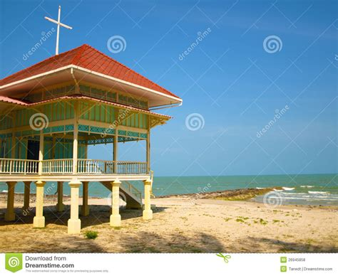 beach house side a wooden house side a beach royalty free stock photos image 26945858