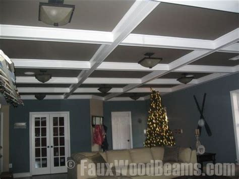 faux wood ceiling beams diy diy coffered ceiling ideas design ideas with faux beams