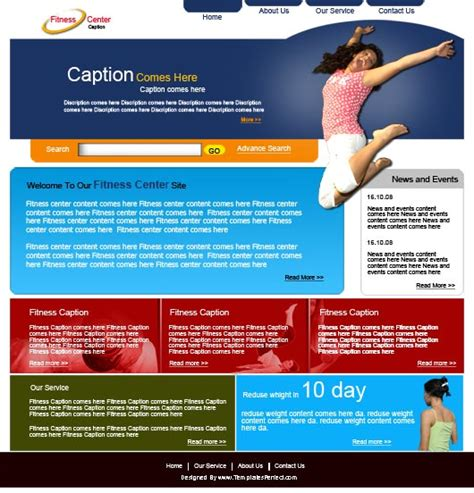 health beauty website templates online store wix free fitness psd web template templates perfect