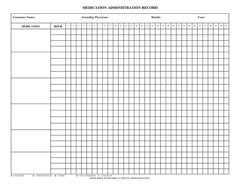 medication chart template exle medication administration record calendar