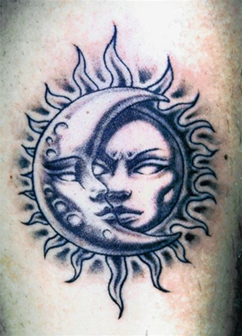 half sun half moon tattoo 58 sun and moon tattoos ideas with meanings