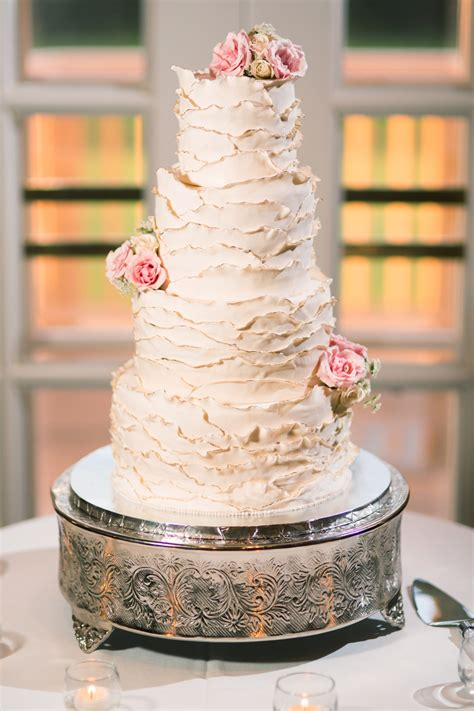 Wedding Ruffled by Ruffled Wedding Cake With Gilded Edges Cakecentral