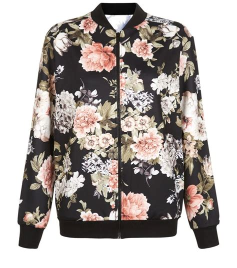 Jaket Bomber Flower 25 Best Ideas About Floral Bomber Jacket On