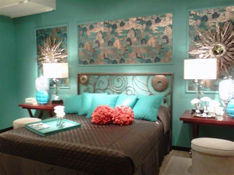 awesome teal turquoise and brown bedding bedroom decor