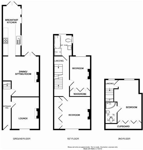 terraced house floor plan uk terraced house floor plans house design plans