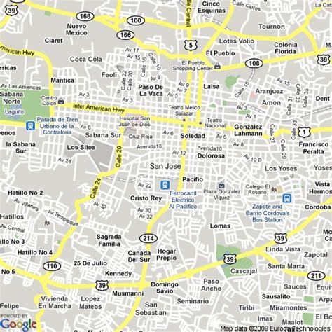 san jose map hotels map of san jose costa rica hotels accommodation