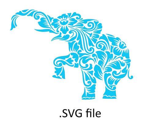 svg pattern safari alabama flower pattern elephant svg cut file by
