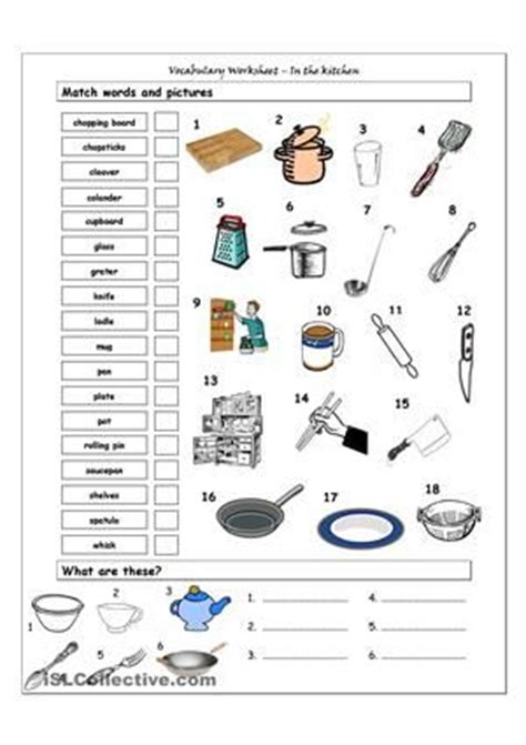 guess my word 35 food items worksheet free esl kitchen worksheets free search independent
