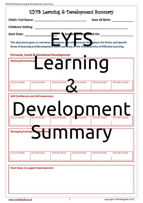 Eyfs Progress Report Template Specific Areas Of Eyfs Related Keywords Specific Areas