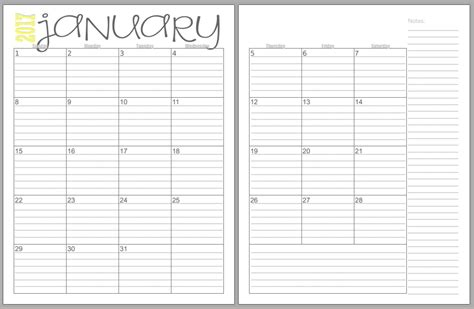 two page monthly calendar template free 2017 monthly two page calendars beautifully tarnished