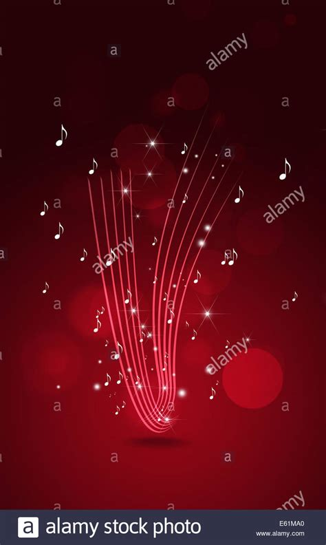 free light background music abstract red background with music notes lights and bokeh