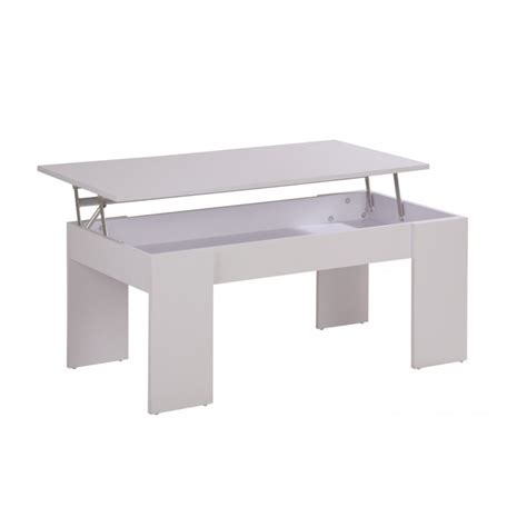 Table Basse Blanche Plateau Relevable