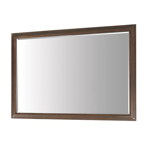 allen roth bathroom mirrors shop allen roth 33 in h x 48 in w fenella sable