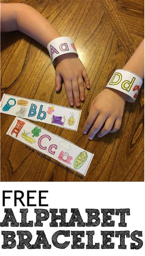 printable alphabet bracelets free alphabet bracelets free homeschool deals