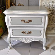 refinished nightstand  diy chalk paint     shabby chic refinished
