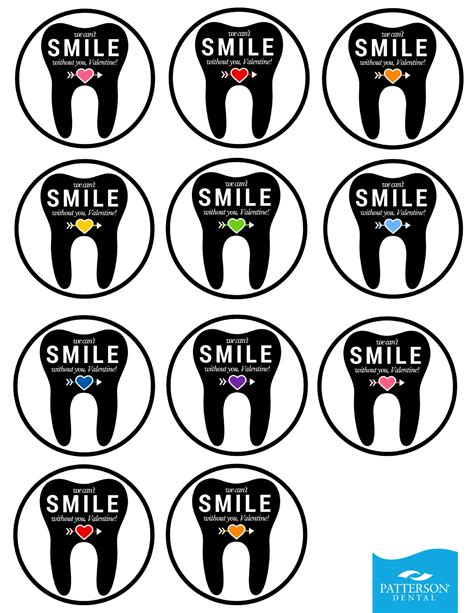printable tooth stickers 10 toothy valentine s day crafts free printables included